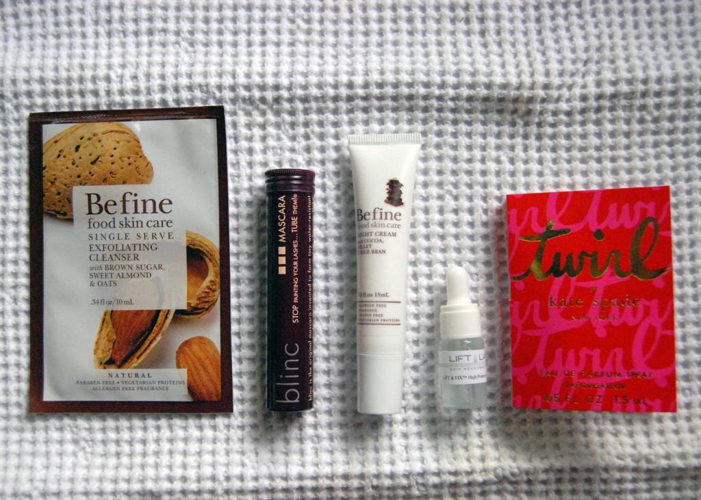 my birchbox goodies!